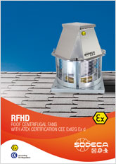 ROOF CENTRIFUGAL FANS WITH ATEX CERTIFICATION
