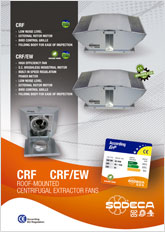 CRF CRF/EW ROOF-MOUNTED CENTRIFUGAL EXTRACTOR FANS